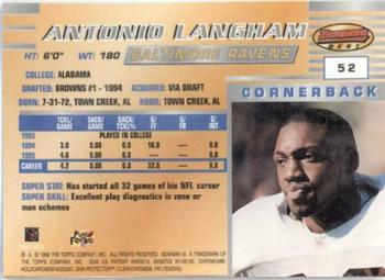 1996 Bowman's Best #52 Antonio Langham Back