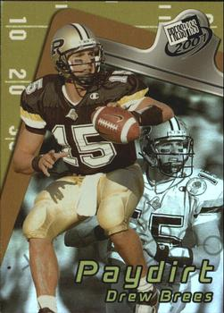 2001 Press Pass - Paydirt #PD1 Drew Brees Front