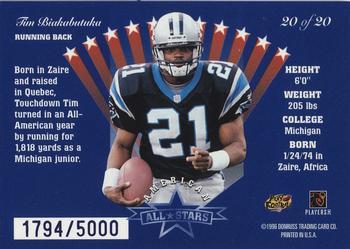 c534acb82 1996 Leaf - American All-Stars  20 Tim Biakabutuka Back