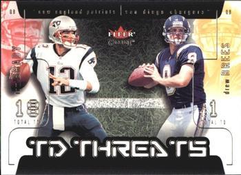 6c2192dc4 2002 Fleer Genuine - TD Threats  13 TD Tom Brady   Drew Brees