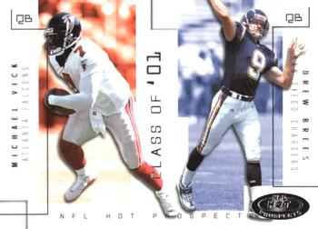 cde85f89d 2002 Fleer Hot Prospects - Class Of  19 Michael Vick   Drew Brees Front