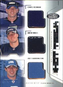 d5a871cbe 2002 Fleer Hot Prospects - Hat Trick Memorabilia  HTRBH Chris Redman   Drew  Brees