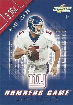 2002 Score - Numbers Game #NG-4 Kerry Collins Front