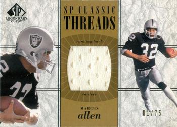 2002 SP Legendary Cuts - SP Classic Threads Gold #CC-MA Marcus Allen Front