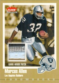 2003 Fleer Tradition - Throwbacks Memorabilia Gold Patches #TBP-MA Marcus Allen Front