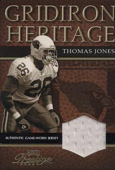 2003 Playoff Prestige - Gridiron Heritage Jerseys #GH-25 Thomas Jones Front