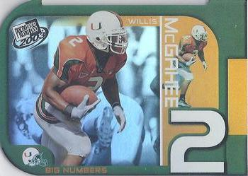 2003 Press Pass - Big Numbers #BN22 Willis McGahee Front