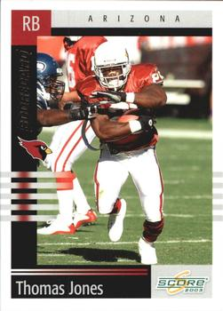 2003 Score - Scorecard #143 Thomas Jones Front