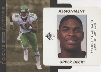 1996 SP - Focus on the Future #F21 Keyshawn Johnson Front