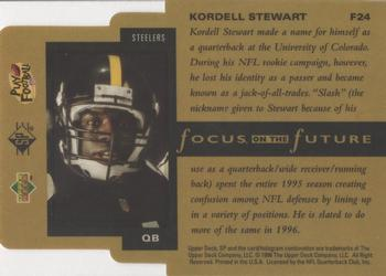 1996 SP - Focus on the Future #F24 Kordell Stewart Back