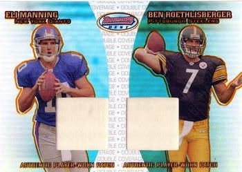 2004 Bowman's Best - Double Coverage Jerseys #DC-MR Eli Manning / Ben Roethlisberger Front