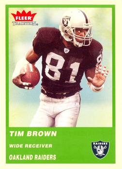 2004 Fleer Tradition - Green #111 Tim Brown Front
