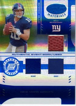 2004 Leaf Certified Materials - Mirror Blue Materials #225 Eli Manning Front