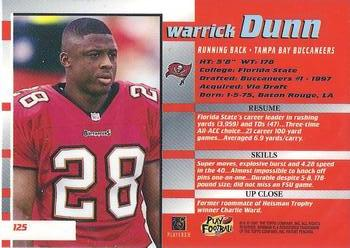 1997 Bowman's Best #125 Warrick Dunn Back