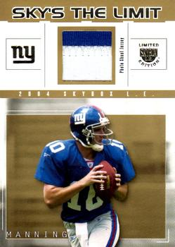 2004 SkyBox LE - Sky's the Limit Jerseys Gold Patch #SL-EM Eli Manning Front