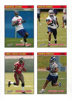 2005 Bazooka - Stickers/Checklists #47 Brandon Jacobs / Marion Barber / Carnell
