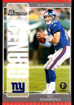 2005 Bowman - First Edition #40 Eli Manning Front