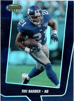 2005 Bowman's Best - Blue #1 Tiki Barber Front