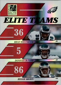 2006 Donruss Elite - Elite Teams Red #ET-18 Brian Westbrook / Donovan McNabb / Reggie Brown Front