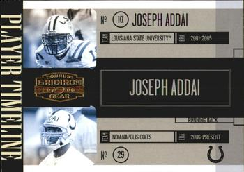 2006 Donruss Gridiron Gear - Player Timeline Gold #PT-23 Joseph Addai Front
