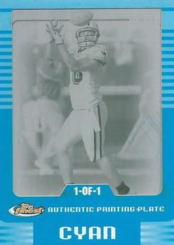 2006 Finest - Printing Plates Cyan #47 Randy McMichael Front
