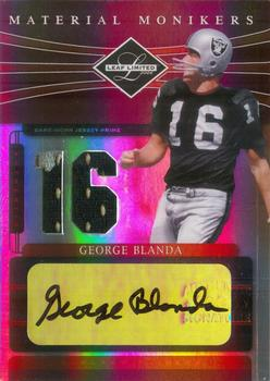 2006 Leaf Limited - Material Monikers Jersey Number Prime #MM-60 George Blanda Front