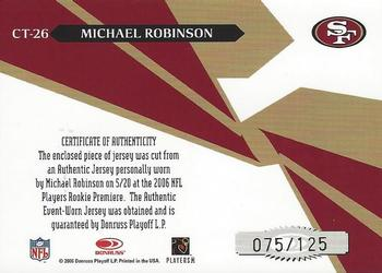 2006 Leaf Rookies & Stars - Crosstraining Materials #CT-26 Michael Robinson Back