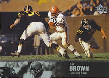 1997 Upper Deck Legends #2 Jim Brown Front