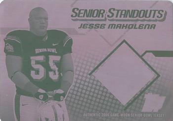 2006 Topps Draft Picks & Prospects - Senior Standout Jersey Printing Plate Magenta Front #SS-JM Jesse Mahelona Front