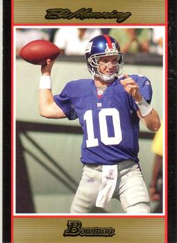 2007 Bowman - Gold #16 Eli Manning Front