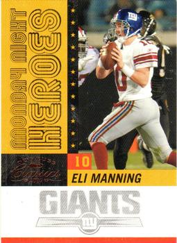 2007 Donruss Classics - Monday Night Heroes Bronze #MNH-8 Eli Manning Front