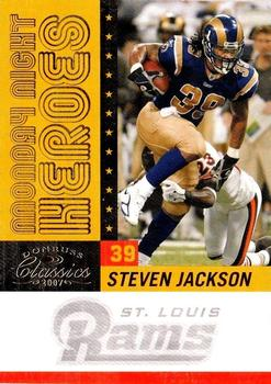 2007 Donruss Classics - Monday Night Heroes Gold #MNH-24 Steven Jackson Front