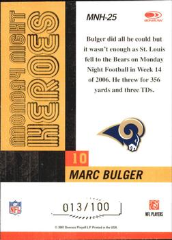 2007 Donruss Classics - Monday Night Heroes Gold #MNH-25 Marc Bulger Back