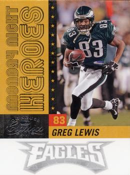2007 Donruss Classics - Monday Night Heroes Silver #MNH-4 Greg Lewis Front