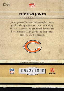 2007 Donruss Elite - Series Gold #ES-24 Thomas Jones Back