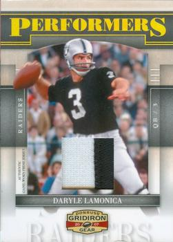 2007 Donruss Gridiron Gear - Performers Jerseys Prime #P-14 Daryle Lamonica Front