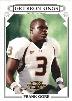 2007 Donruss Threads - College Gridiron Kings Gold #4 Frank Gore Front