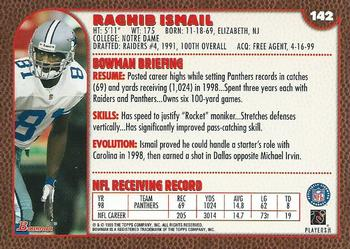 1999 Bowman #142 Rocket Ismail Back
