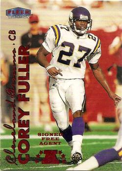 1999 Fleer Tradition #49 Corey Fuller Front