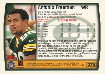 1999 Topps #275 Antonio Freeman Back