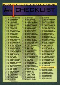 1999 Topps #357 Checklist Front