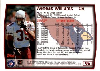 1999 Topps - Collection #96 Aeneas Williams Back