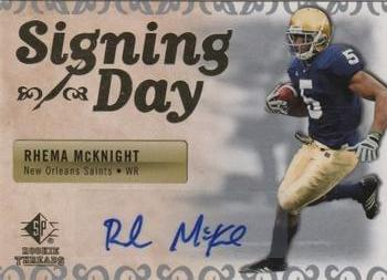2007 SP Rookie Threads - Signing Day Autographs #SDA-RM Rhema McKnight Front