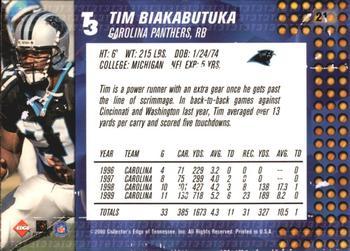 6d2831e9f 2000 Collector s Edge T3  21 Tim Biakabutuka Back