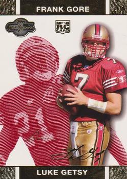 2007 Topps Co-Signers - Changing Faces Gold Red #61 Luke Getsy / Frank Gore Front