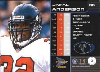 2000 Pacific Prism Prospects #3 Jamal Anderson Back