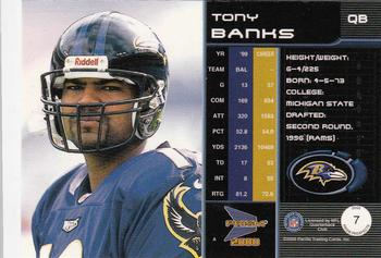 2000 Pacific Prism Prospects #7 Tony Banks Back
