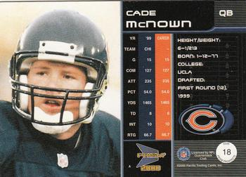 2000 Pacific Prism Prospects #18 Cade McNown Back