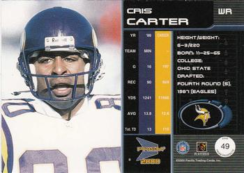 2000 Pacific Prism Prospects #49 Cris Carter Back