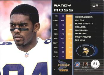 2000 Pacific Prism Prospects #51 Randy Moss Back